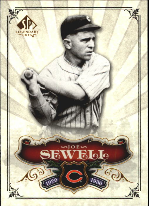 2006 SP Legendary Cuts #80 Joe Sewell