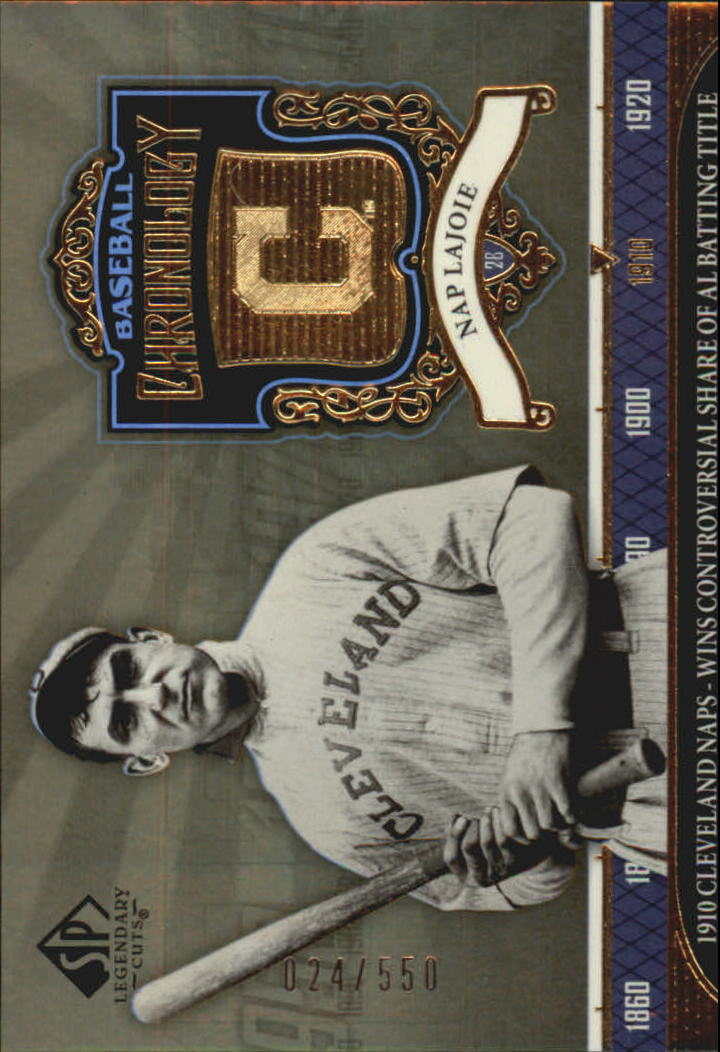 2006 SP Legendary Cuts Baseball Chronology Gold #NL Nap Lajoie