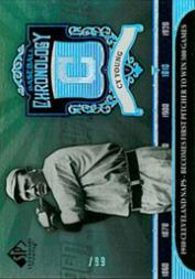 2006 SP Legendary Cuts Baseball Chronology Platinum #CY Cy Young