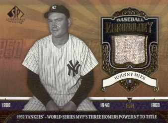 2006 SP Legendary Cuts Baseball Chronology Materials #JM Johnny Mize Pants