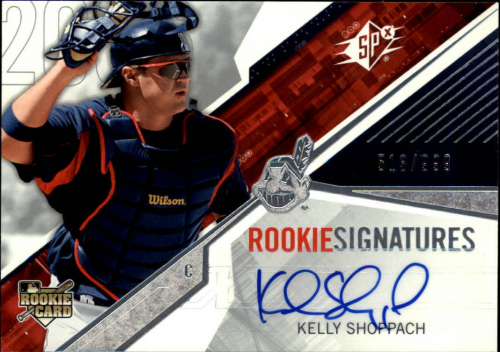 2006 SPx #109 Kelly Shoppach AU/999 (RC)