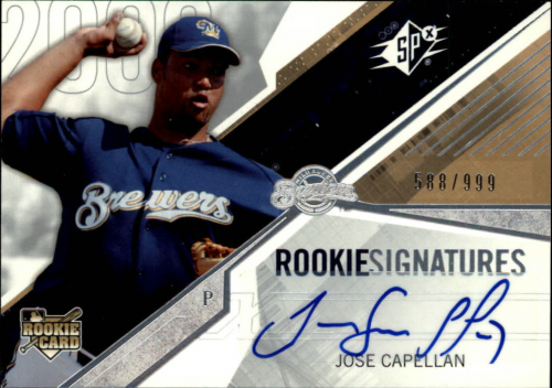 2006 SPx #127 Jose Capellan AU/999 (RC)