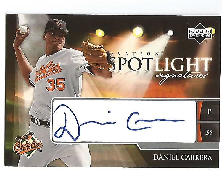 2006 Upper Deck Ovation Spotlight Signatures #DC Daniel Cabrera