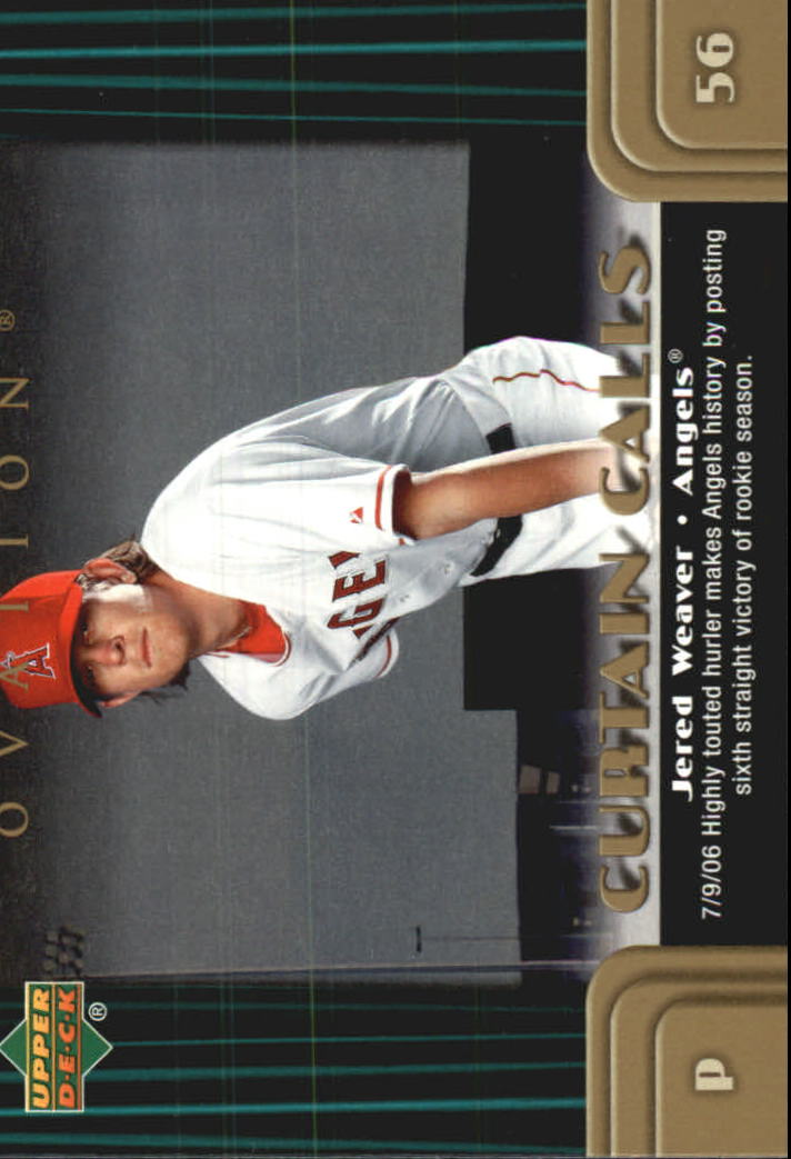 2006 Upper Deck Ovation Curtain Calls #JE Jered Weaver