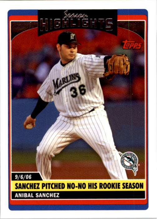 2006 Topps Update #174 Anibal Sanchez SH