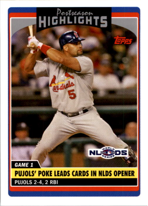 2006 Topps Update #186 Albert Pujols PH