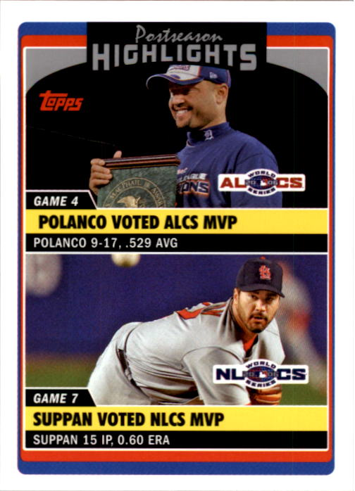 2006 Topps Update #191 P.Polanco/J.Suppan PH