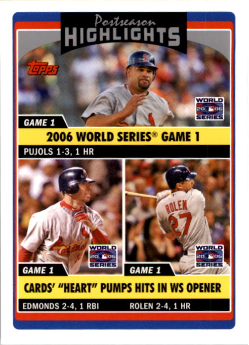 2006 Topps Update #197 A.Pujols/J.Edmonds/S.Rolen PH
