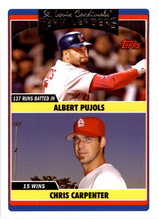 2006 Topps Update #296 A.Pujols/C.Carpenter TL