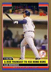 2006 Topps Update Gold #171 Alex Rodriguez SH