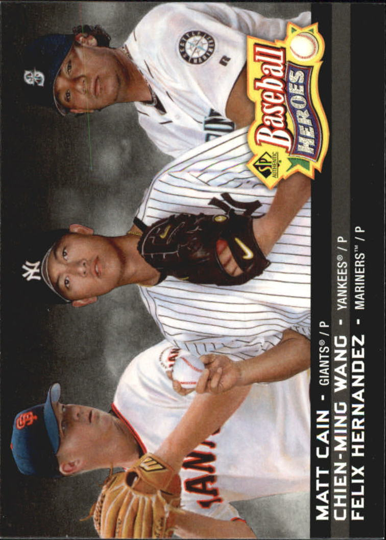 2006 SP Authentic Baseball Heroes #56 Chien-Ming Wang/Matt Cain/Felix Hernandez front image