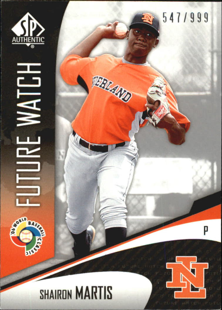 2006 SP Authentic WBC Future Watch #80 Shairon Martis