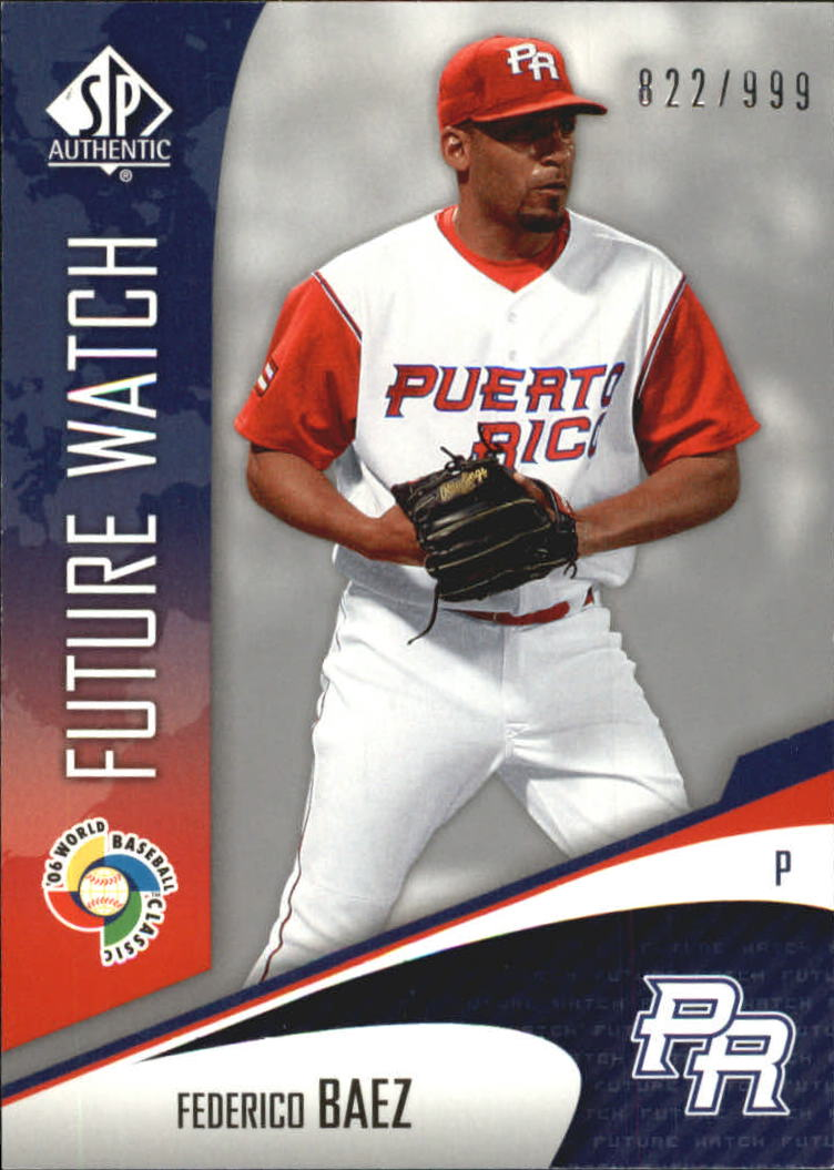 2006 SP Authentic WBC Future Watch #89 Federico Baez