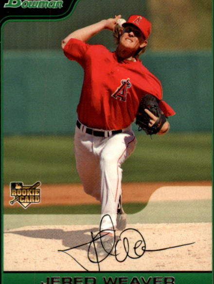 2006 Bowman Draft #8 Jered Weaver (RC)