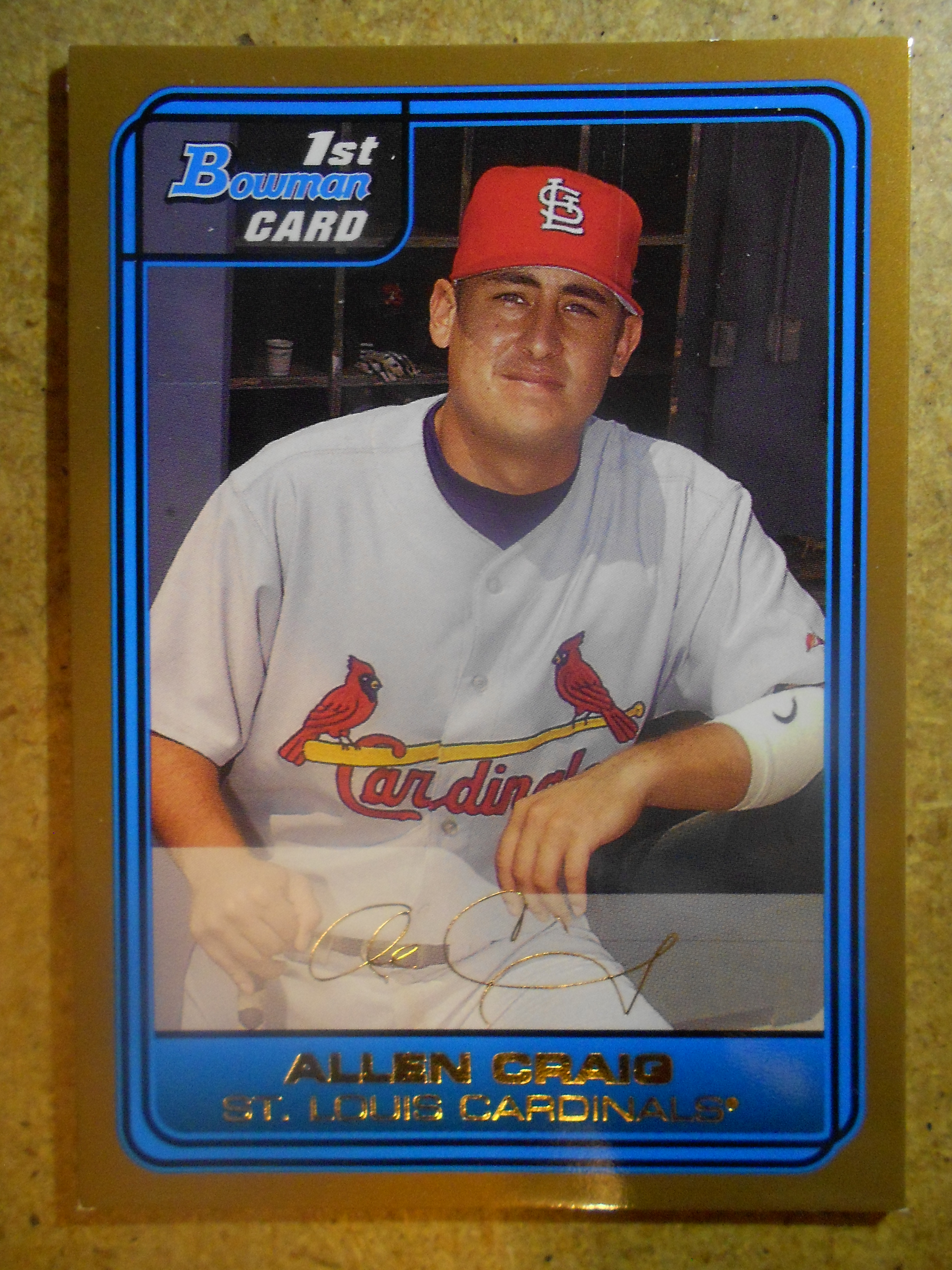 2006 Bowman Draft Draft Picks Gold #36 Allen Craig front image