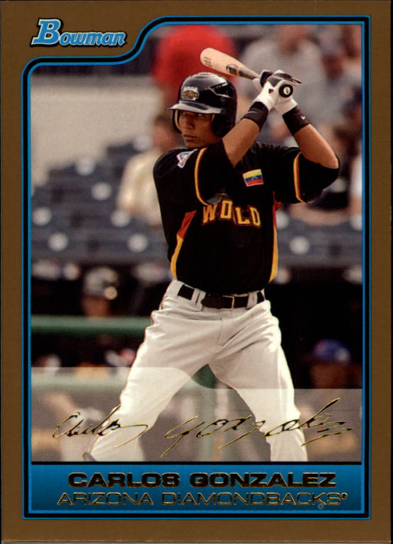 2006 Bowman Draft Future's Game Prospects Gold #43 Carlos Gonzalez