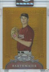 2006 Bowman Sterling Prospects Gold Refractors #JRB Jimmy Barthmaier