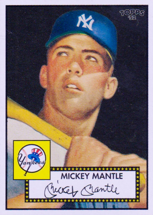 2006 Topps 52 #311B Mickey Mantle Black