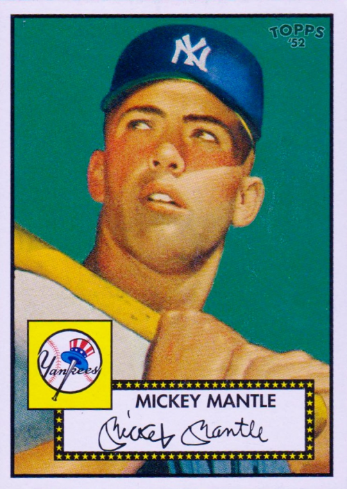 2006 Topps 52 #311C Mickey Mantle Green