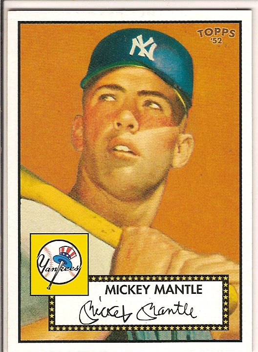 2006 Topps 52 #311D Mickey Mantle Orange