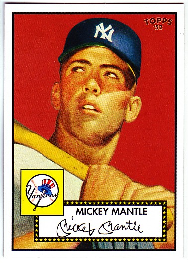 2006 Topps 52 #311E Mickey Mantle Red