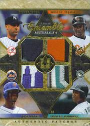 2006 Ultimate Collection Ensemble Materials Quad Patch #TJRR Derek Jeter /Miguel Tejada /Jose Reyes /Hanley Ramirez