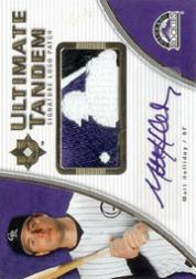 2006 Ultimate Collection Tandem Materials Signatures Logo #AH Garrett Atkins/Matt Holliday