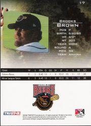 2006 TRISTAR Prospects Plus #17 Brooks Brown PD back image