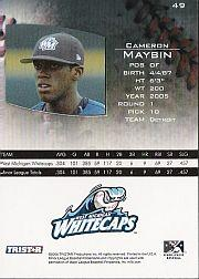 2006 TRISTAR Prospects Plus #49 Cameron Maybin PD back image