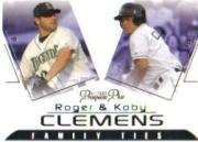2006 TRISTAR Prospects Plus Family Ties #1 Roger Clemens/Koby Clemens