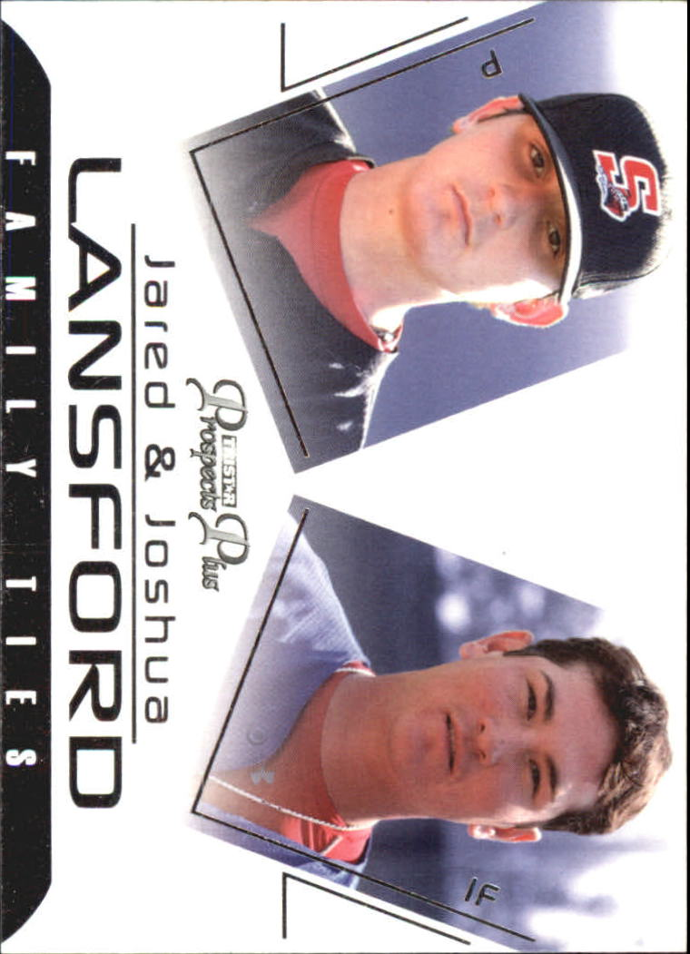 2006 TRISTAR Prospects Plus Family Ties #5 Jared Lansford/Joshua Lansford