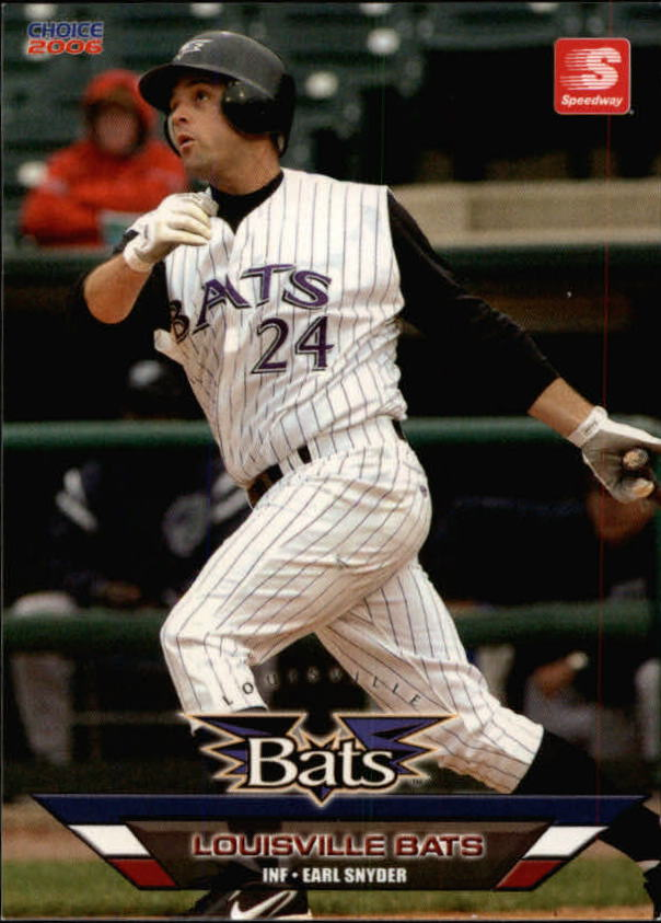 2006 Louisville Bats Choice #25 Earl Snyder