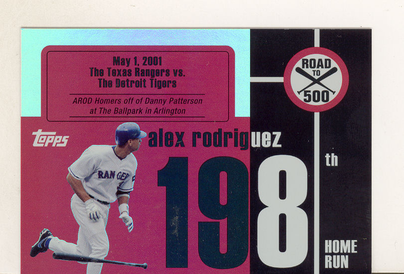 2007 Topps Alex Rodriguez Road to 500 #ARHR198 Alex Rodriguez
