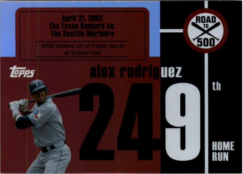 2007 Topps Alex Rodriguez Road to 500 #ARHR249 Alex Rodriguez