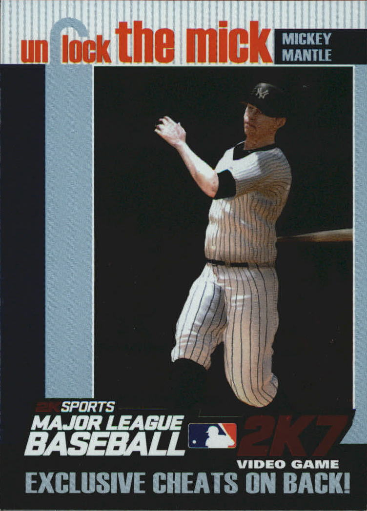 2007 Topps Unlock the Mick #UTM3 Mickey Mantle