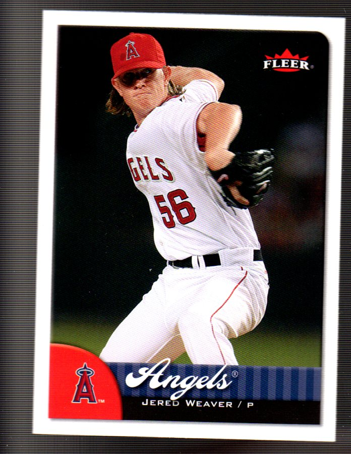 2007 Fleer #180 Jered Weaver