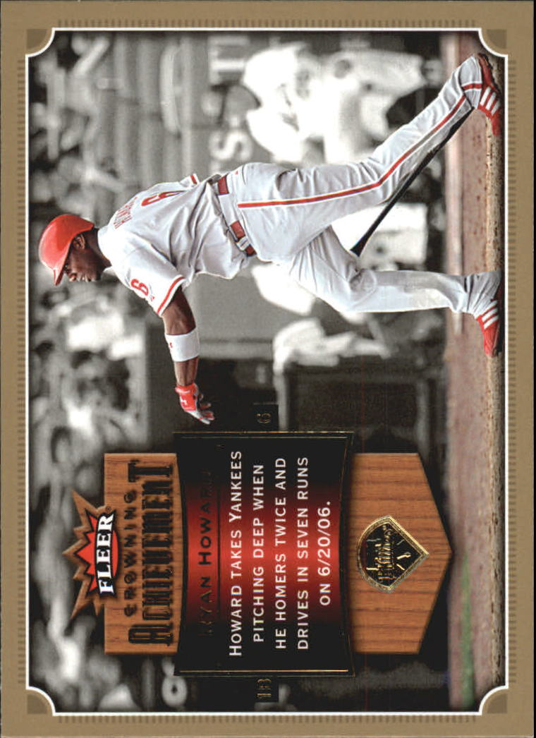 2007 Fleer Crowning Achievement #RH Ryan Howard
