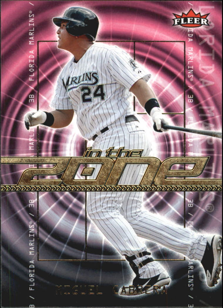 2007 Fleer In the Zone #MC Miguel Cabrera