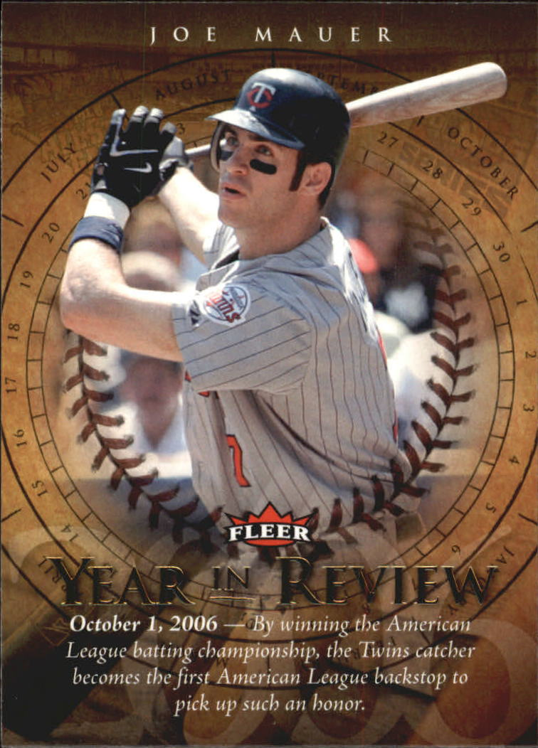 2007 Fleer Year in Review #JM Joe Mauer