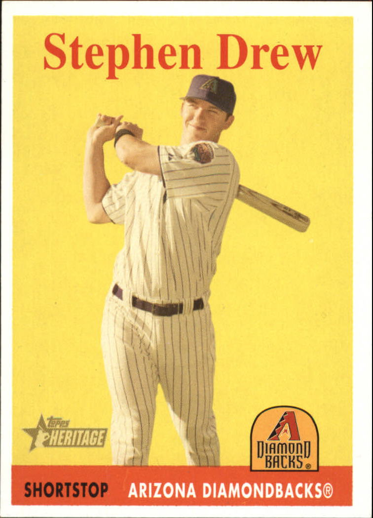 2007 Topps Heritage #81a Stephen Drew