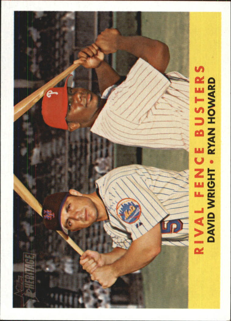 2007 Topps Heritage #436 D.Wright/R.Howard