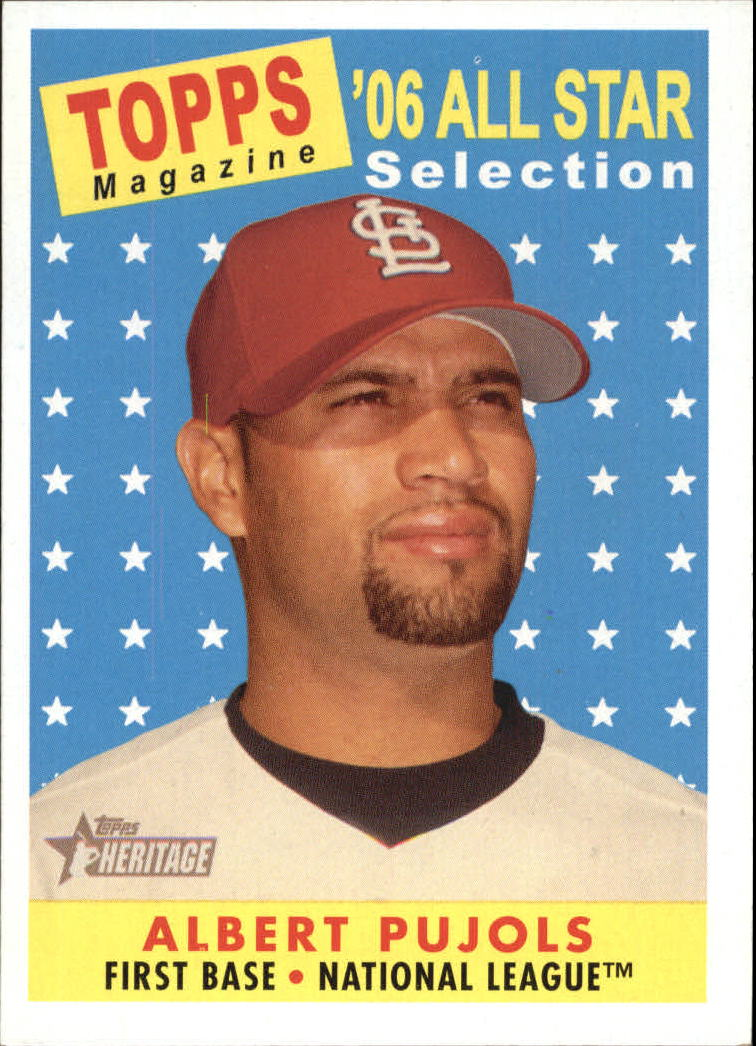 2007 Topps Heritage #476 Albert Pujols AS