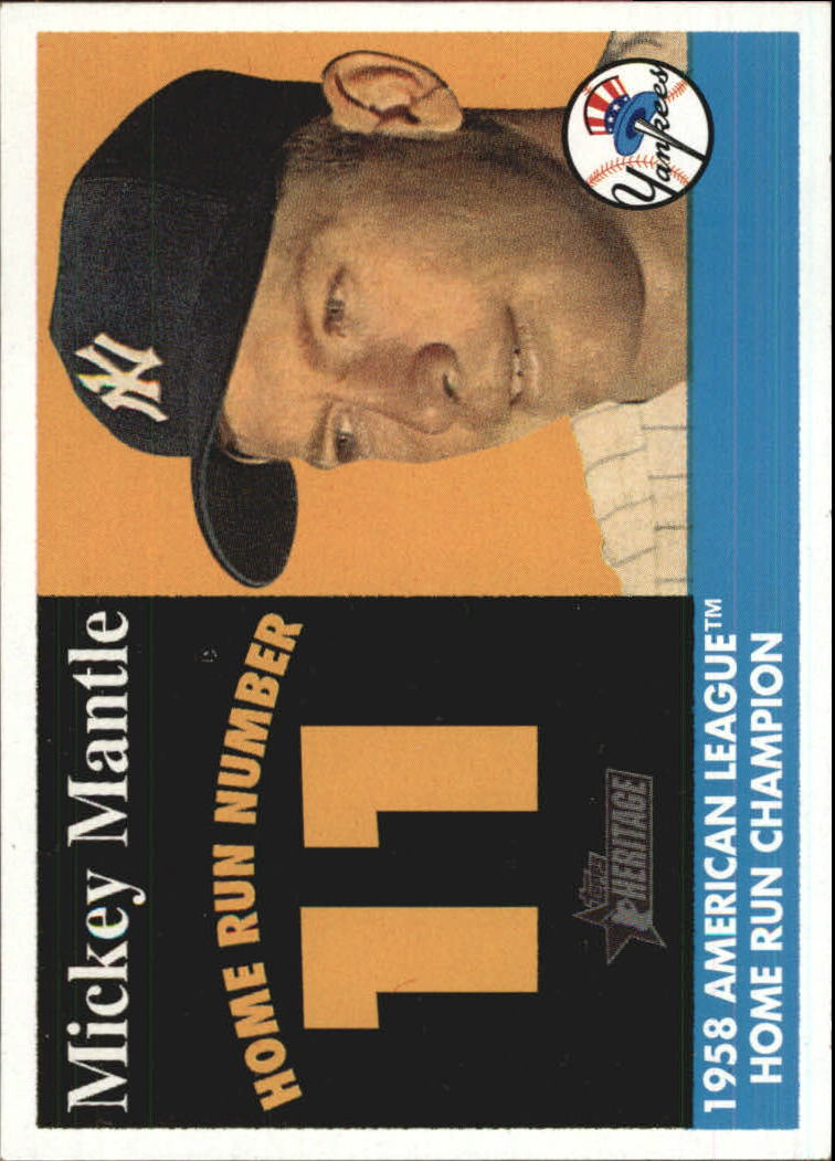 2007 Topps Heritage 1958 Home Run Champion #MMHRC11 Mickey Mantle