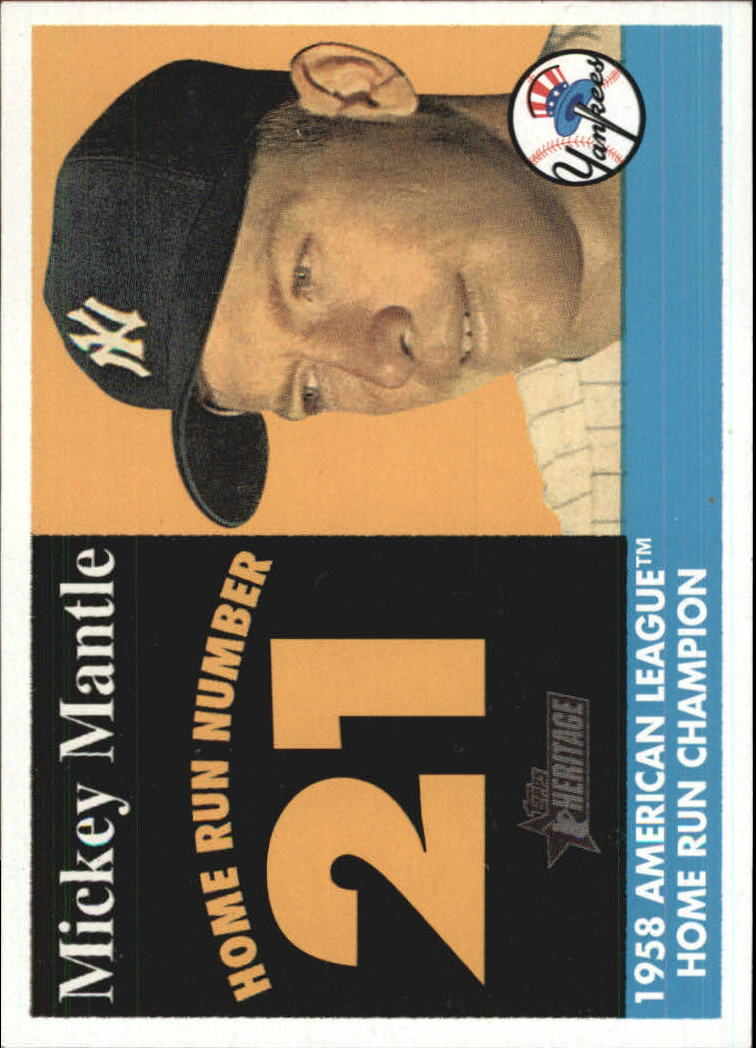2007 Topps Heritage 1958 Home Run Champion #MMHRC21 Mickey Mantle