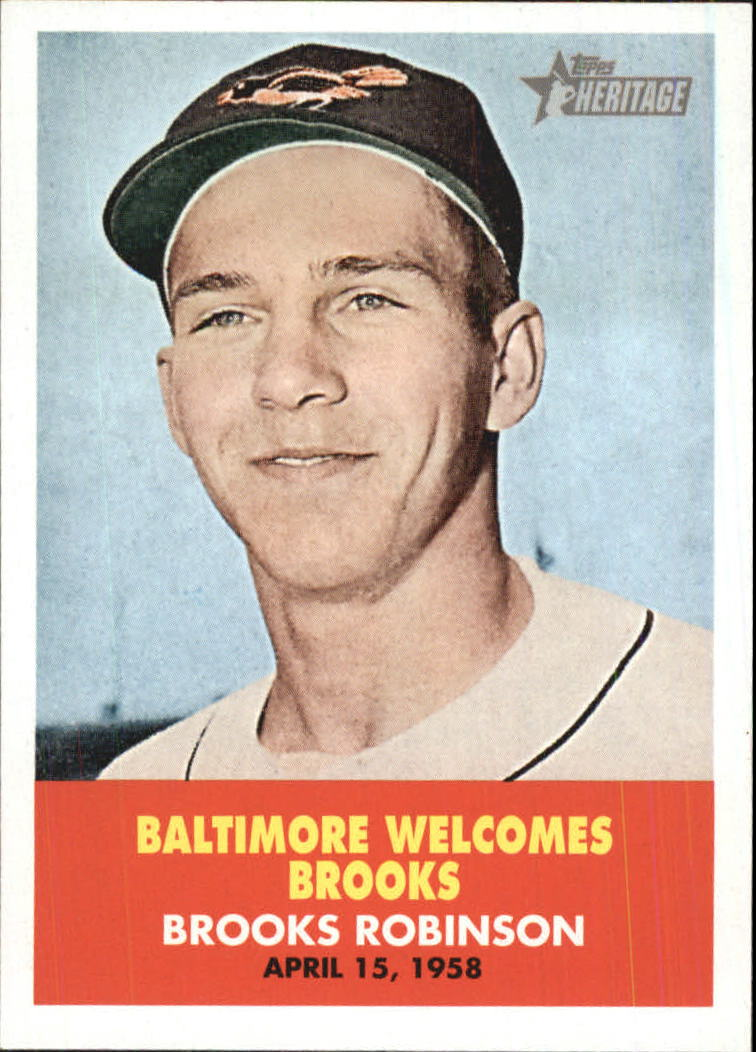2007 Topps Heritage Flashbacks #FB2 Brooks Robinson front image