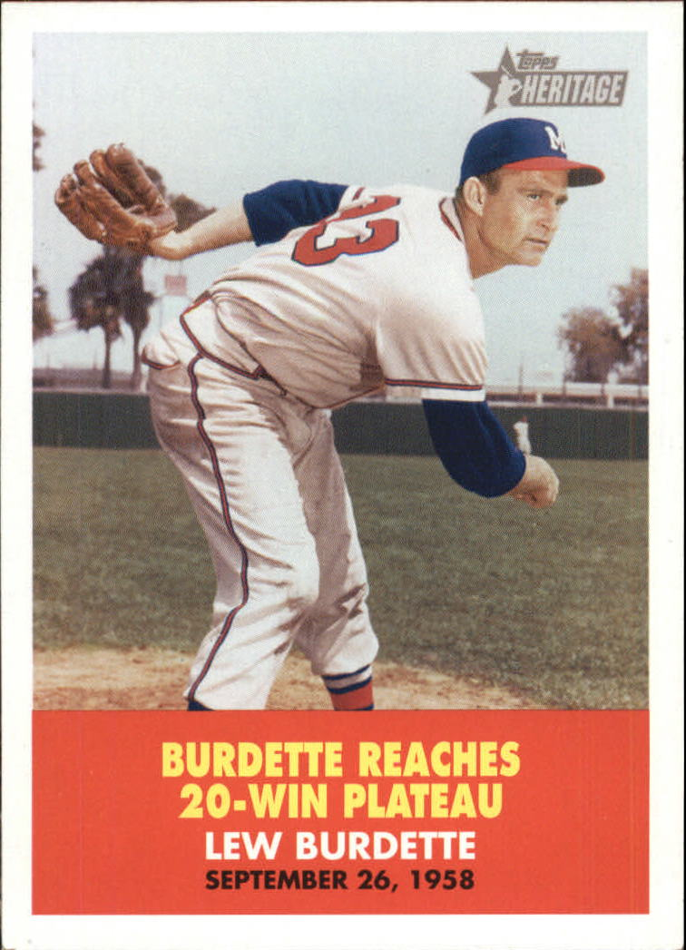 2007 Topps Heritage Flashbacks #FB6 Lew Burdette