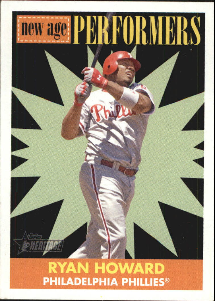 2007 Topps Heritage New Age Performers #NP1 Ryan Howard