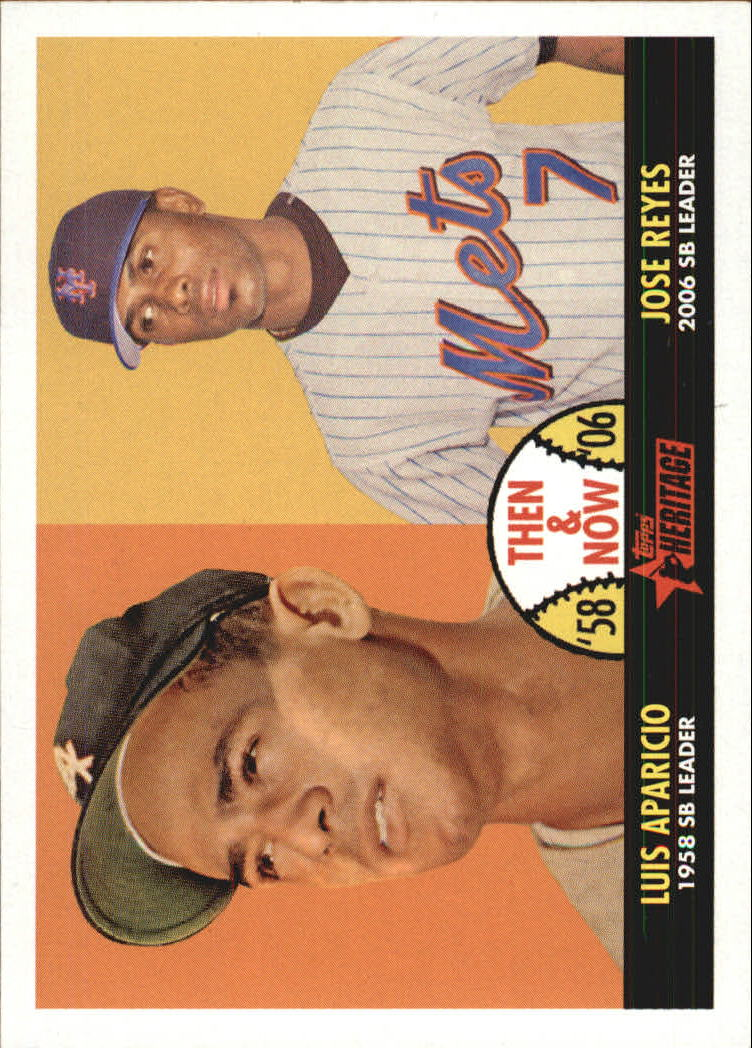 2007 Topps Heritage Then and Now #TN4 Luis Aparicio/Jose Reyes