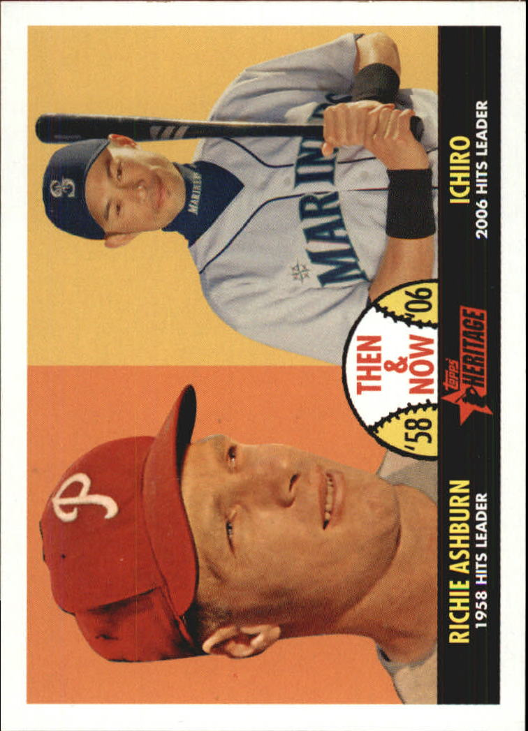 2007 Topps Heritage Then and Now #TN7 Richie Ashburn/Ichiro Suzuki