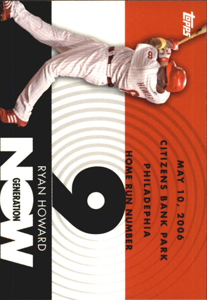 2007 Topps Generation Now #GN9 Ryan Howard